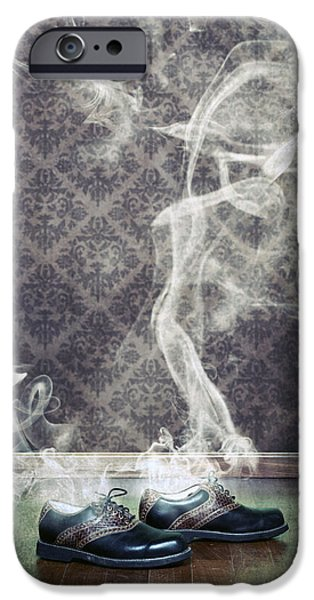 Smoky iPhone Cases - Smoky Shoes iPhone Case by Joana Kruse