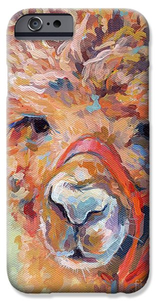 Llama iPhone Cases - Snickers iPhone Case by Kimberly Santini