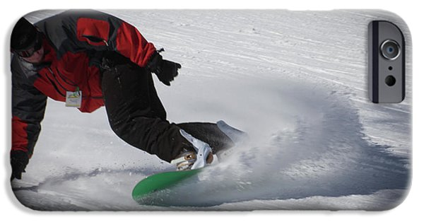 IPhone 6 Case featuring the photograph Snowboarder On Mccauley by David Patterson