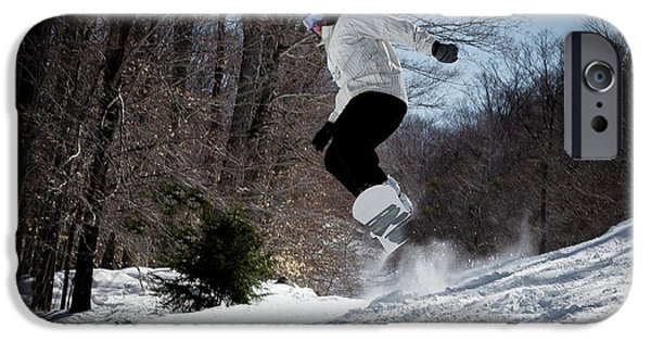 IPhone 6 Case featuring the photograph Snowboarding Mccauley Mountain by David Patterson
