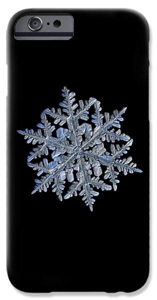 Snowflake Macro Photo - 13 February 2017 - 3 Black IPhone 6 Case