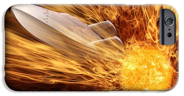 Sun Flare iPhone Cases - Solar Flare iPhone Case by John Edwards
