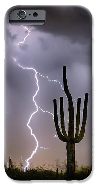 IPhone 6 Case featuring the photograph Sonoran Desert Monsoon Storming by James BO Insogna
