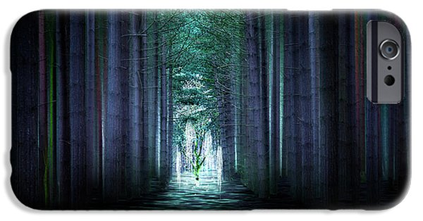 Pathway Mixed Media iPhone Cases - Soul Tree iPhone Case by Svetlana Sewell