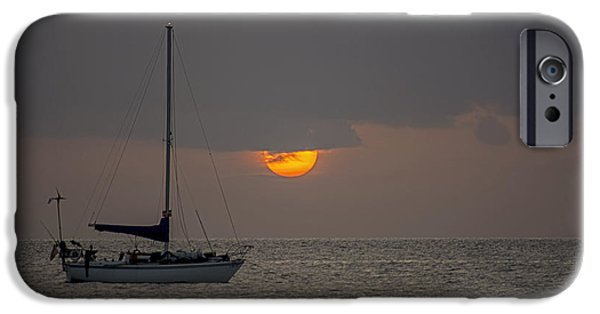 Sailboat Ocean iPhone Cases - South Beach 4243 iPhone Case by Steve Lipson