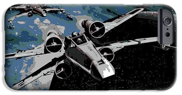 Fictional Star iPhone Cases - Space iPhone Case by George Pedro