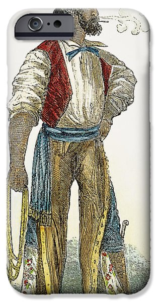 Chaps iPhone Cases - Spanish Settler, 1852 iPhone Case by Granger