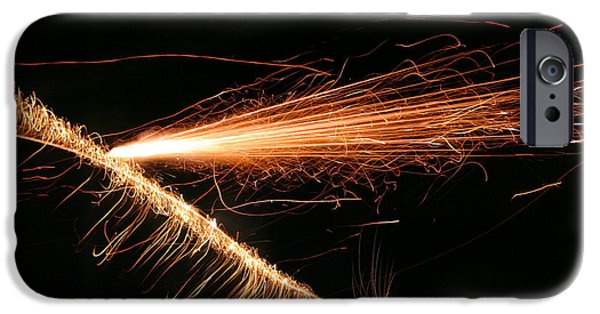 Fourth Of July iPhone Cases - Sparks Will Fly iPhone Case by Kristin Elmquist