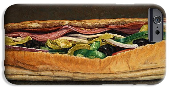 Subways iPhone Cases - Spicy Italian iPhone Case by James W Johnson