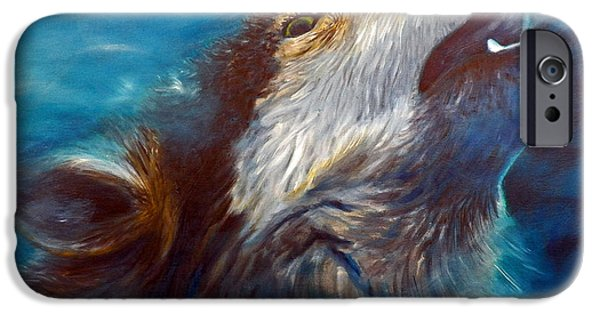 Metaphysical Paintings iPhone Cases - Spirit Of The Wolf iPhone Case by Brian  Commerford