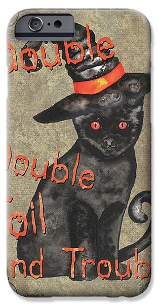 Bat iPhone 6 Case - Spooky Pumpkin 3 by Debbie DeWitt