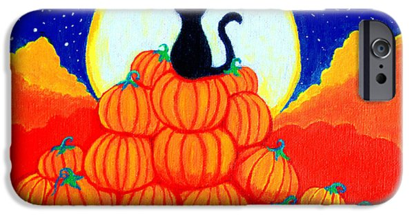 Spooky Paintings iPhone Cases - Spooky the Pumpkin King iPhone Case by Nick Gustafson