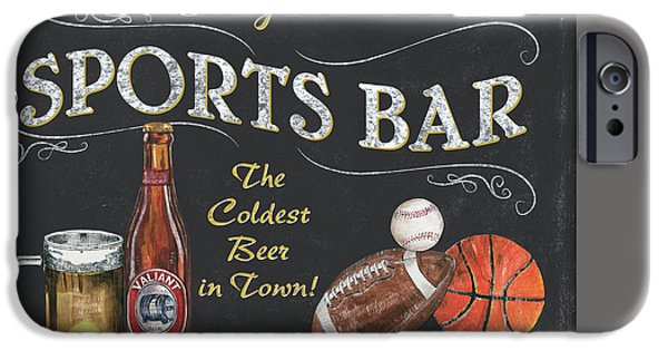 Pitcher iPhone Cases - Sports Bar iPhone Case by Debbie DeWitt