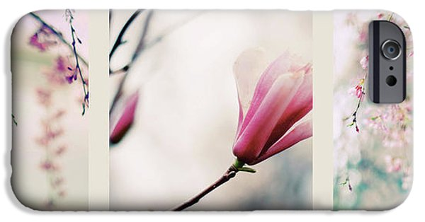 IPhone 6 Case featuring the photograph Spring Blossom Triptych by Jessica Jenney