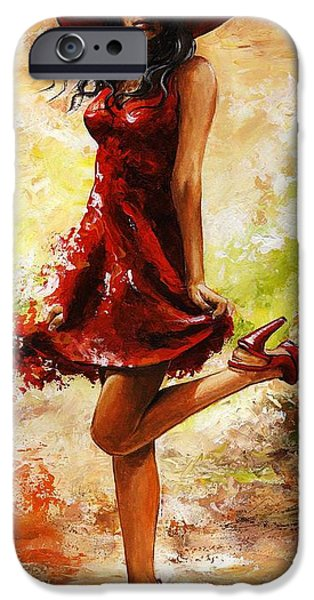 Model iPhone Cases - Spring breeze iPhone Case by Emerico Imre Toth