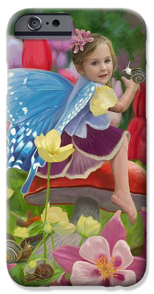 Fairy iPhone 6 Case - Spring Fairy by Lucie Bilodeau