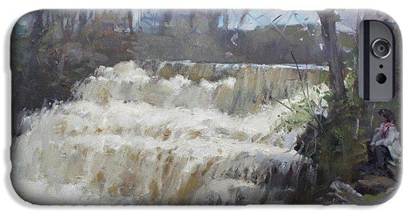 Village iPhone 6 Case - Spring In Williamsville Falls by Ylli Haruni