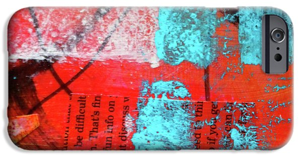 IPhone 6 Case featuring the mixed media Square Collage No. 10 by Nancy Merkle