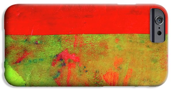 IPhone 6 Case featuring the mixed media Square Collage No. 11 by Nancy Merkle