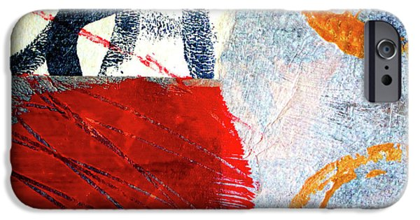 IPhone 6 Case featuring the painting Square Collage No. 3 by Nancy Merkle