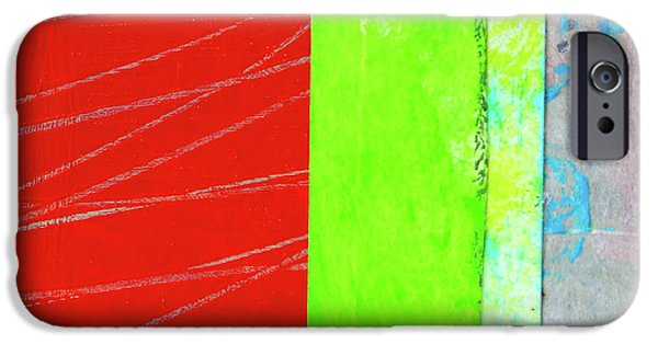 IPhone 6 Case featuring the painting Square Collage No. 5 by Nancy Merkle
