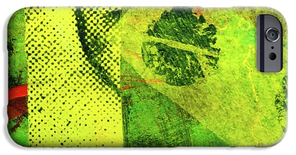 IPhone 6 Case featuring the mixed media Square Collage No. 8 by Nancy Merkle