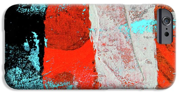 IPhone 6 Case featuring the mixed media Square Collage No. 9 by Nancy Merkle