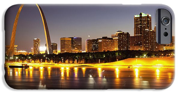 Attraction iPhone Cases - St Louis Skyline iPhone Case by Bryan Mullennix