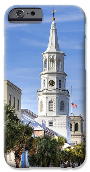 St Photographs iPhone Cases - St Michaels Church Charleston SC 3 iPhone Case by Dustin K Ryan