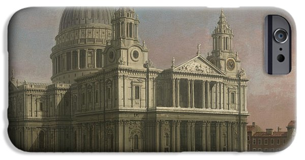 Saint Christopher iPhone Cases - St. Pauls Cathedral iPhone Case by Giovanni Antonio Canaletto