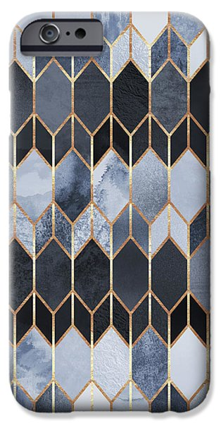 Blue iPhone 6 Case - Stained Glass 4 by Elisabeth Fredriksson