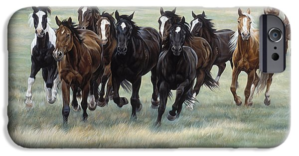 Equestrian iPhone Cases - Stampede iPhone Case by JQ Licensing