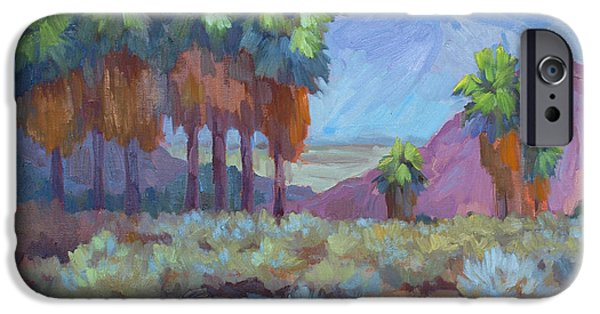 Standing Paintings iPhone Cases - Standing Tall at Thousand Palms iPhone Case by Diane McClary