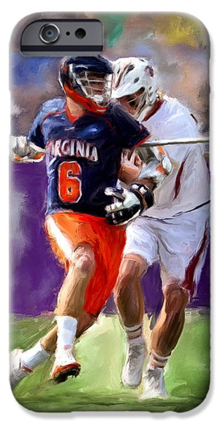 Scott Melby iPhone Cases - Stanwick Lacrosse iPhone Case by Scott Melby
