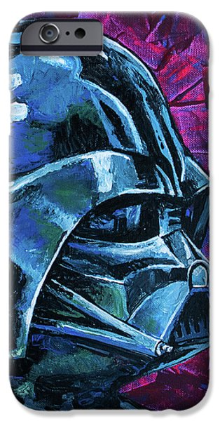 IPhone 6 Case featuring the painting Star Wars Helmet Series - Darth Vader by Aaron Spong