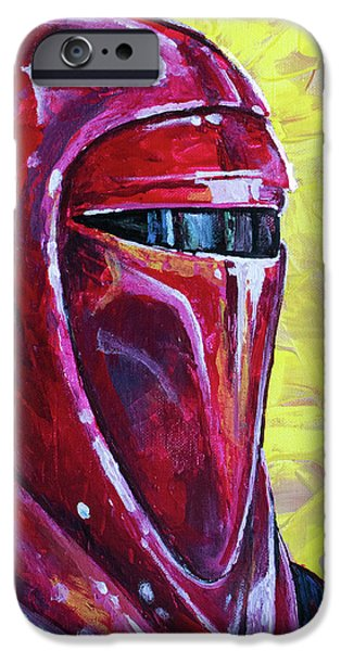 IPhone 6 Case featuring the painting Star Wars Helmet Series - Imperial Guard by Aaron Spong