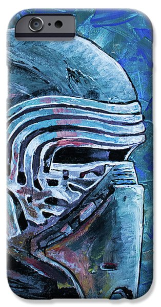 IPhone 6 Case featuring the painting Star Wars Helmet Series - Kylo Ren by Aaron Spong