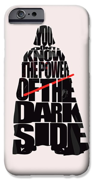 Star iPhone 6 Case - Star Wars Inspired Darth Vader Artwork by Inspirowl Design