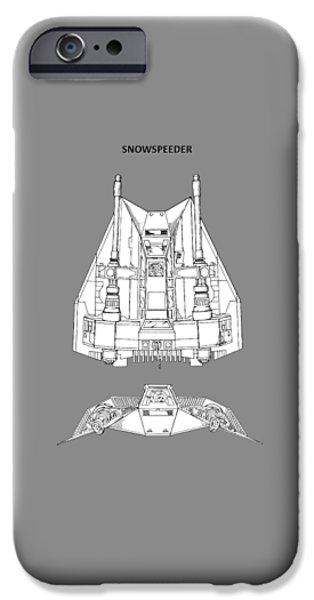 Yoda iPhone 6 Case - Star Wars - Snowspeeder Patent by Mark Rogan
