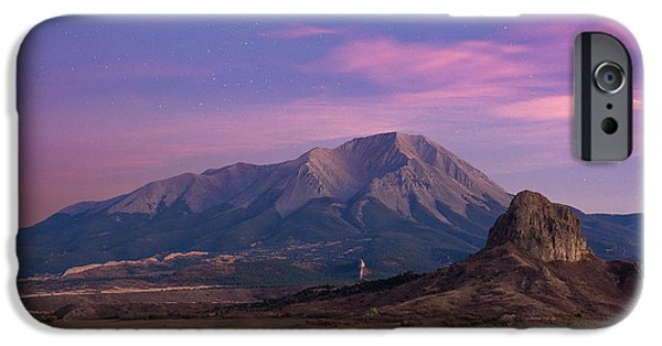 IPhone 6 Case featuring the photograph Starry Sunset Over West Spanish Peak by Aaron Spong