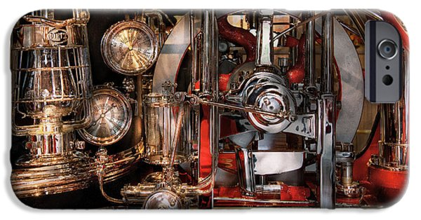 Mechanism iPhone Cases - Steampunk - Check the gauges  iPhone Case by Mike Savad