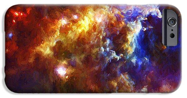 Stellar iPhone Cases - Stellar Nursery in the Rosette Nebula iPhone Case by Brian Goodwin