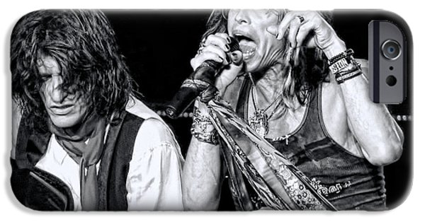 Steven Tyler iPhone Cases - Steven Tyler Croons iPhone Case by Traci Cottingham