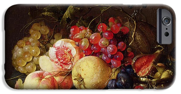 Holland Paintings iPhone Cases - Still Life iPhone Case by Cornelis de Heem