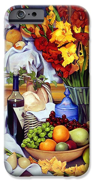 Pears Paintings iPhone Cases - Still Life with Cezanne iPhone Case by Patrick Anthony Pierson