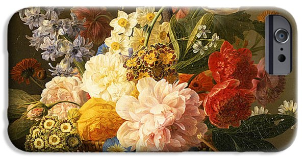 20th iPhone 6 Case - Still Life With Flowers And Fruit by Jan Frans van Dael