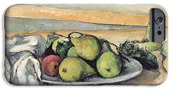 1879 iPhone Cases - Still Life With Pears iPhone Case by Paul Cezanne