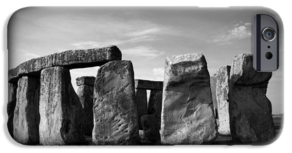Archaeologists iPhone Cases - Stonehenge No 1 BW iPhone Case by Kamil Swiatek