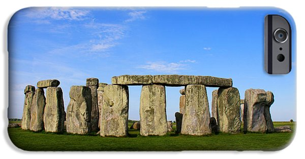 Archaeologists iPhone Cases - Stonehenge On a Clear Blue Day iPhone Case by Kamil Swiatek