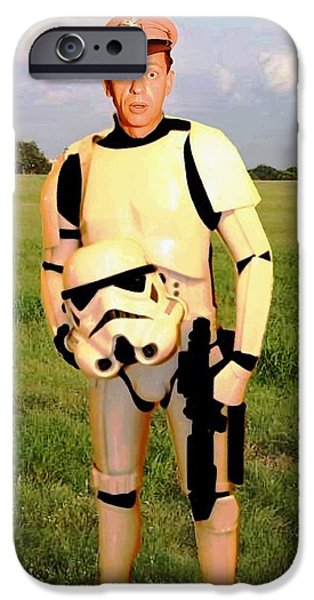 Andy Griffith iPhone Cases - Stormtrooper Barney Fife iPhone Case by Paul Van Scott